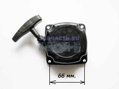 Стартер в сборе мотокосы GBC 043, 052 (плавный пуск)